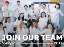 ร่วมงานกับ ShopSpot ประจำปี 2017 มาเป็นส่วนหนึ่งกับทีมงานคนรุ่นใหม่