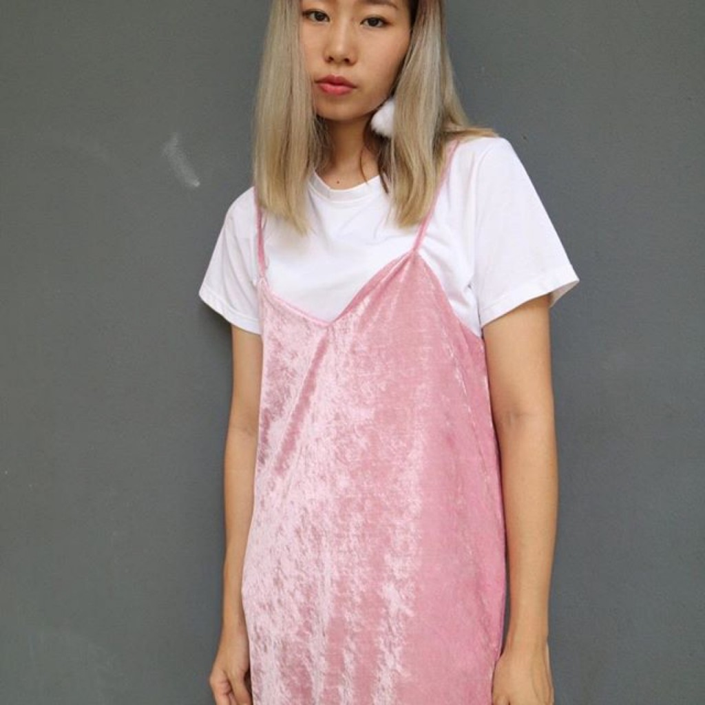 velvet icecream dress - A Wearness