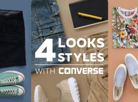 4 ลุค 4 สไตล์ ที่หนุ่มๆ ไม่ควรพลาด! กับรองเท้าผ้าใบ Converse สีใหม่สไตล์เดิม