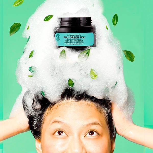 hair - FUJI GREEN TEA HAIR SCRUB POSTER
