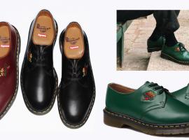 รองเท้าหนังปักลายสุดวินเทจ คอลเลคชั่นใหม่ล่าสุดจาก Supreme x Dr. Martens