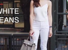 ลืมยีนส์ตัวโปรดไปก่อน หันมาส่องกางเกงยีนส์สีขาวกันดีกว่า