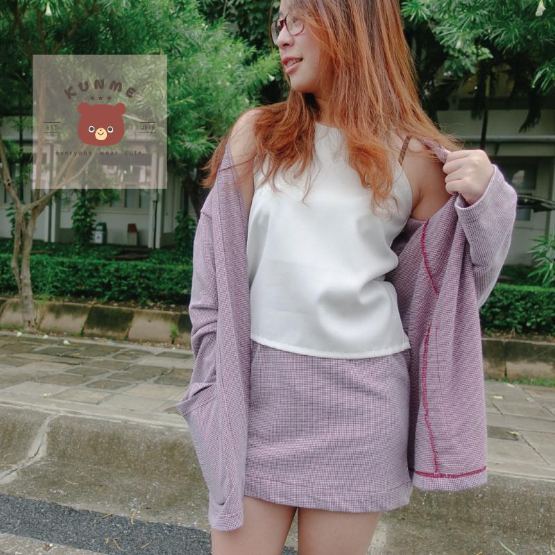 [ Kunme Skirt Pink Dot - 350 THB ]