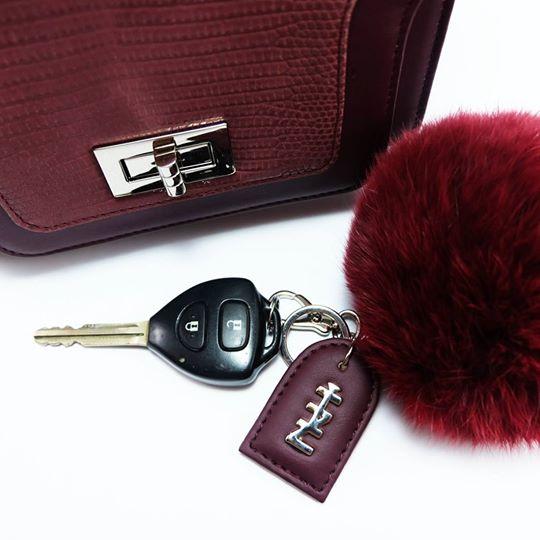 พวงกุญแจสีแดง