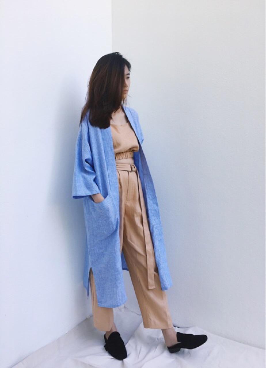เสื้อคลุม ตัวยาว แขนยาว Maxi Kimono - 890 THB