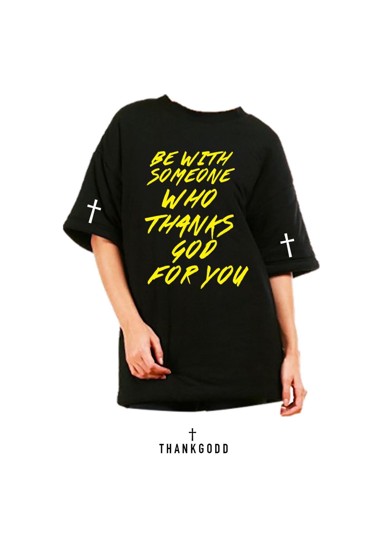 เสื้อยืดคอกลม THANKGODD BLACK T-SHIRT : 450 THB - THANKGODD -