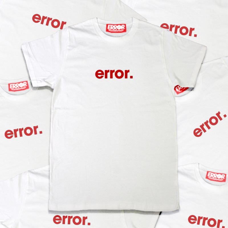เสื้อยืดคอกลม - ERROR Basic Tee White : 390 THB - error clothing -