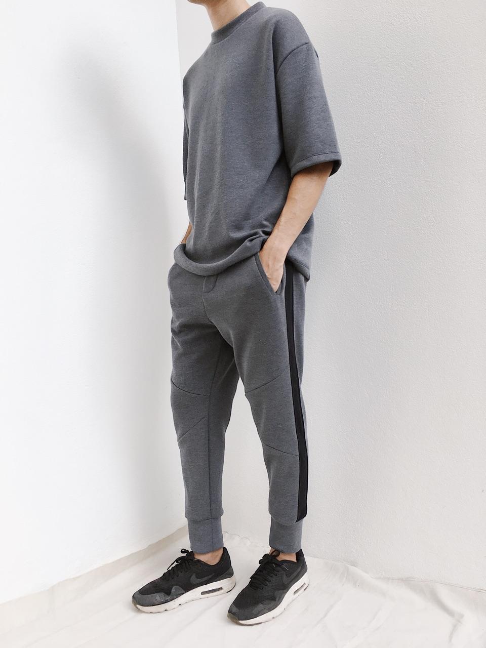 Set เสื้อยืดคอกลม + กางเกงขายาว : 990 THB