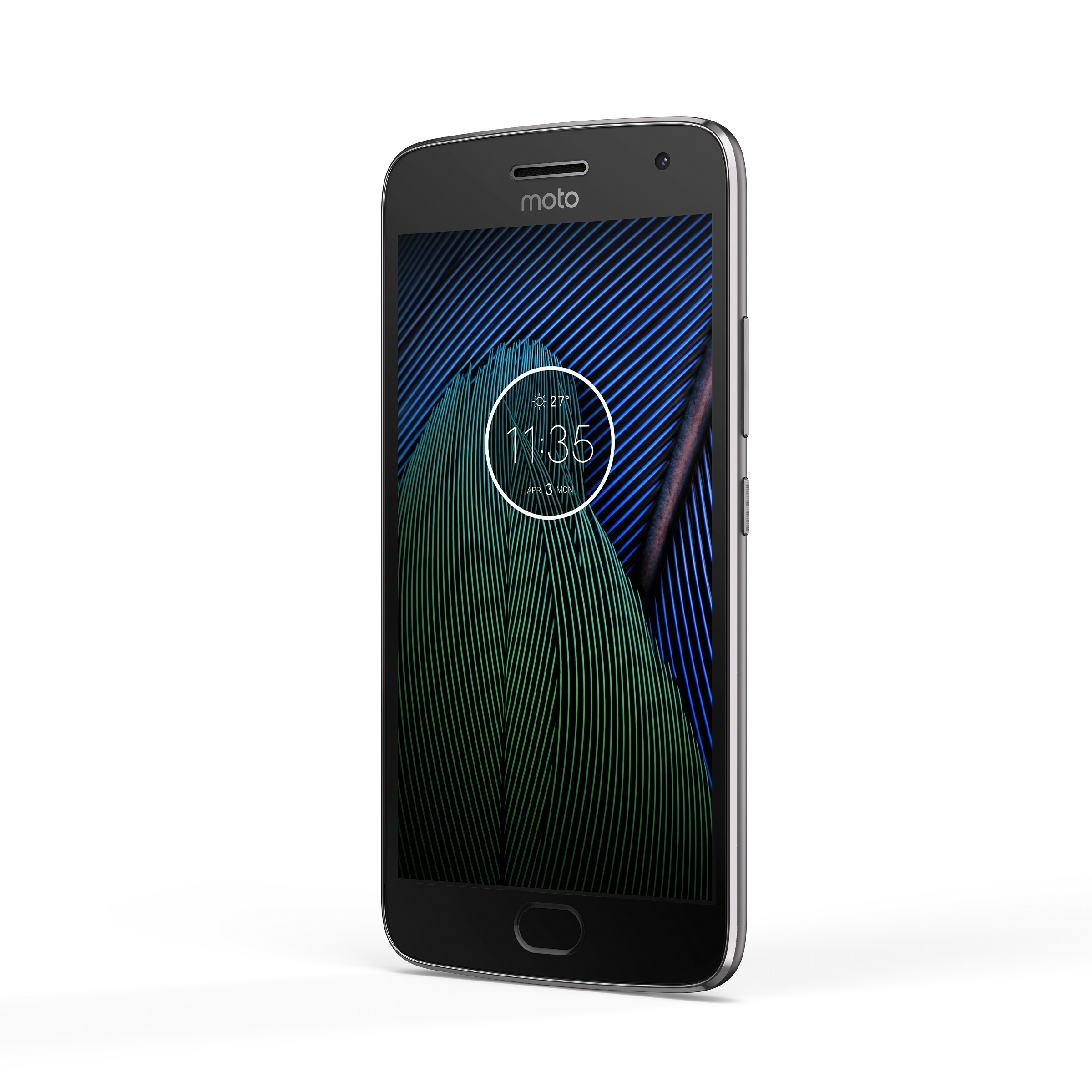 Moto G5 Plus_Black_Front_Angle