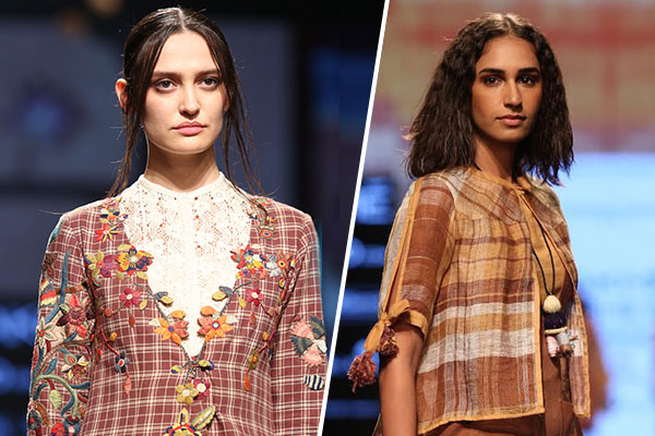 checks with starched formal shirts at lakmé fashion week 2017
