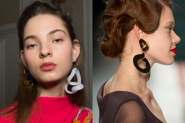 exaggerated earrings spotted at london fashion week 2017