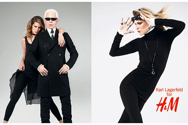 h m karl lagerfeld first designer collaboration