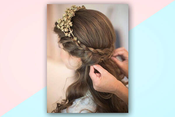 half up half down bridal hairstyles