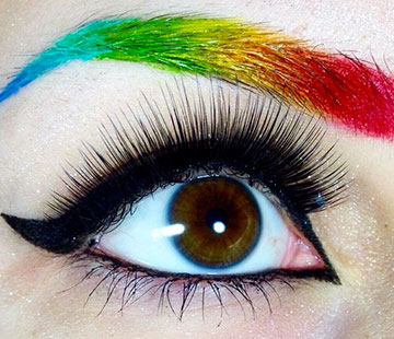Rainbow brows