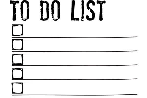 rely on to do lists