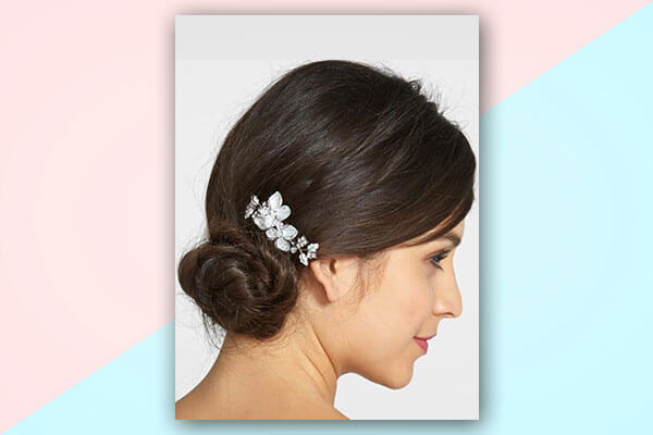 side chignon bridal hairstyles