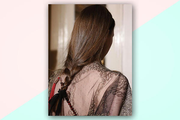 simple braid ribbon hairstyles