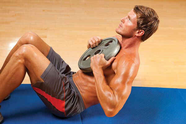 weighted sit up exercise for 6 pack abs