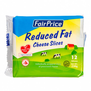Fairprice Cheese Slices Reduced Fat 250g Fairprice