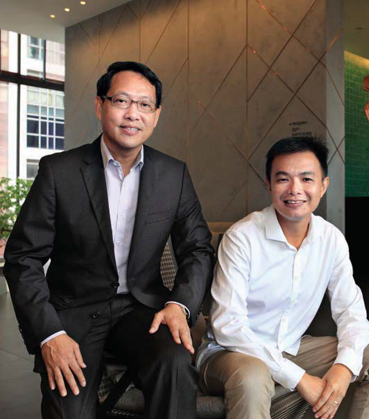 Far East Organization's Lee (left) and WOHA's Phua - EDGEPROP SINGAPORE