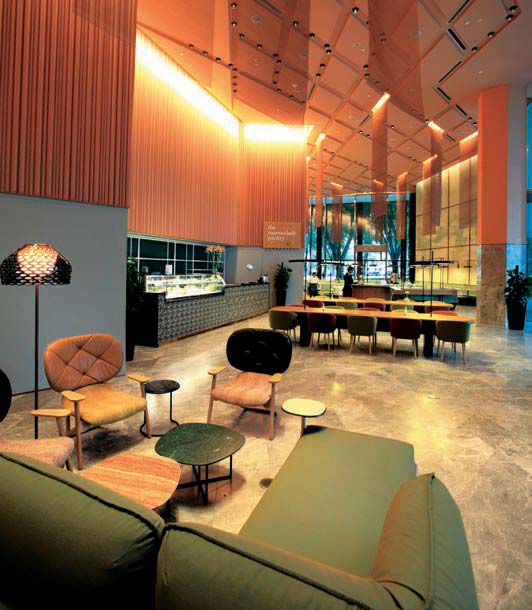 The main lobby on the ground floor with The Marmalade Pantry - EDGEPROP SINGAPORE