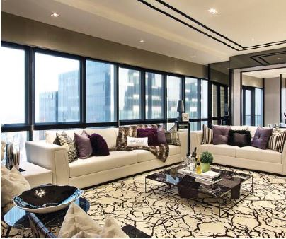The colour scheme celebrates the marriage between the interiors and the views - EDGEPROP SINGAPORE