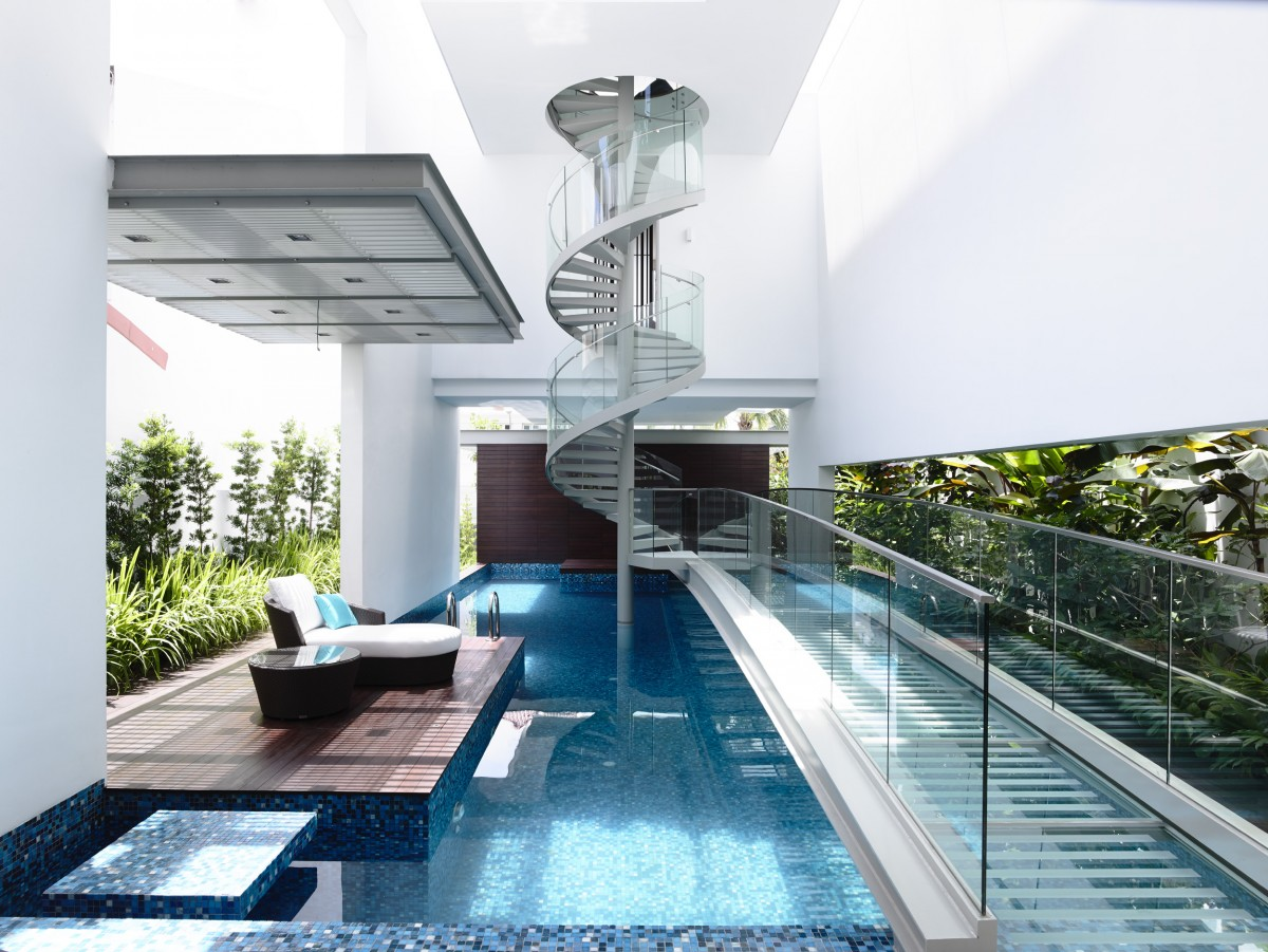 water feature swimming pool