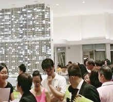 Prospective buyers at Queens Peak, the 736-unit project that will be linked to the Queenstown MRT station in the future