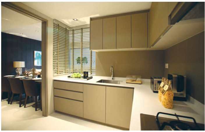 kitchen of a five-bedroom CoSpace unit