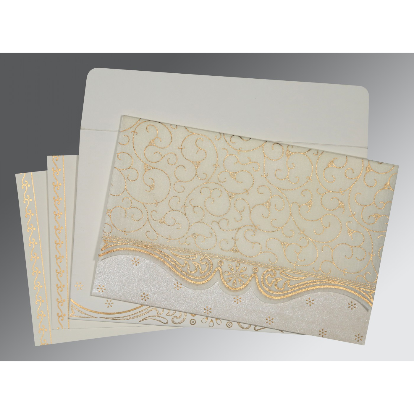 CHAMOISEE MATTE EMBOSSED WEDDING INVITATION : C-8221I - 123WeddingCards