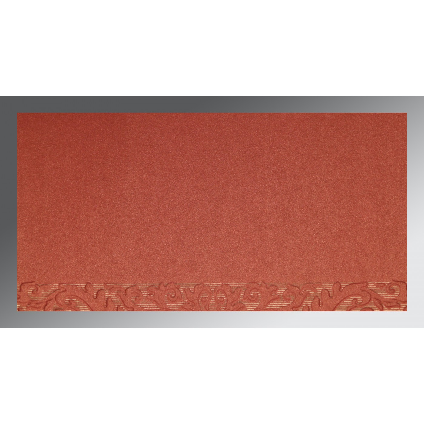 BRICK RED COPPER SHIMMERY FOIL STAMPED WEDDING CARD : W-1463 ...