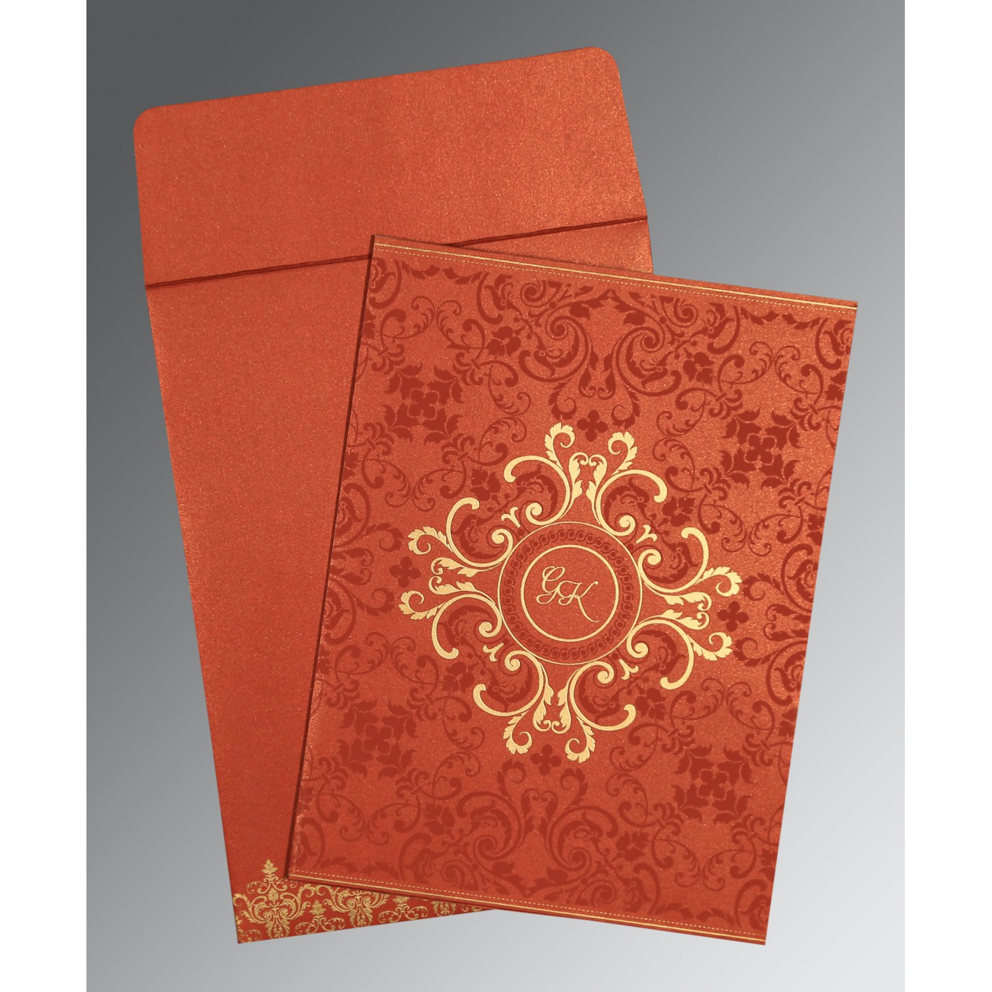 MOJO SHIMMERY SCREEN PRINTED WEDDING CARD : C-8244L - 123WeddingCards