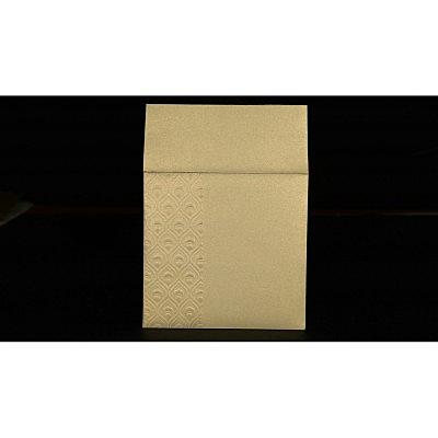 KHAKI SHIMMERY FOIL STAMPED WEDDING INVITATION : P-1506 - 123WeddingCards