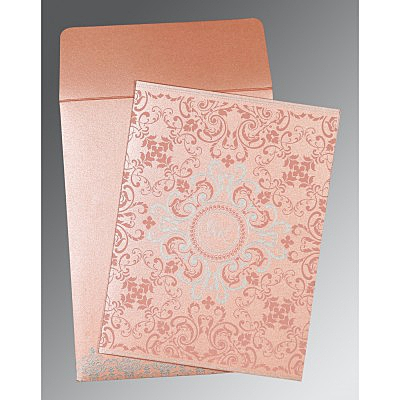 PINK SHIMMERY SCREEN PRINTED WEDDING CARD : IN-8244A - 123WeddingCards