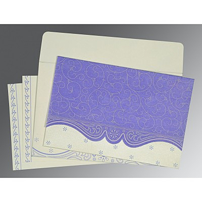 PINK PURPLE MATTE EMBOSSED WEDDING INVITATION : IN-8221E - 123WeddingCards