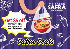 Dabao Deals @ SAFRA Mount Faber - Principal Members Get $5 Off Total Bill for Takeaways