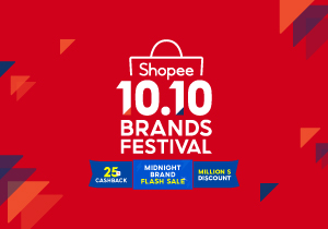 Shopee's 10.10 Brands Festival Up To $10 Off Purchases for new & existing Shopee customers
