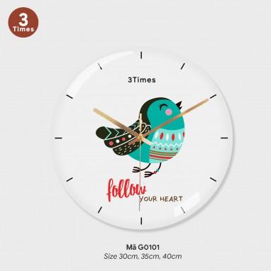 Đồng hồ trang trí nội thất, tranh đồng hồ treo tường mã G0101