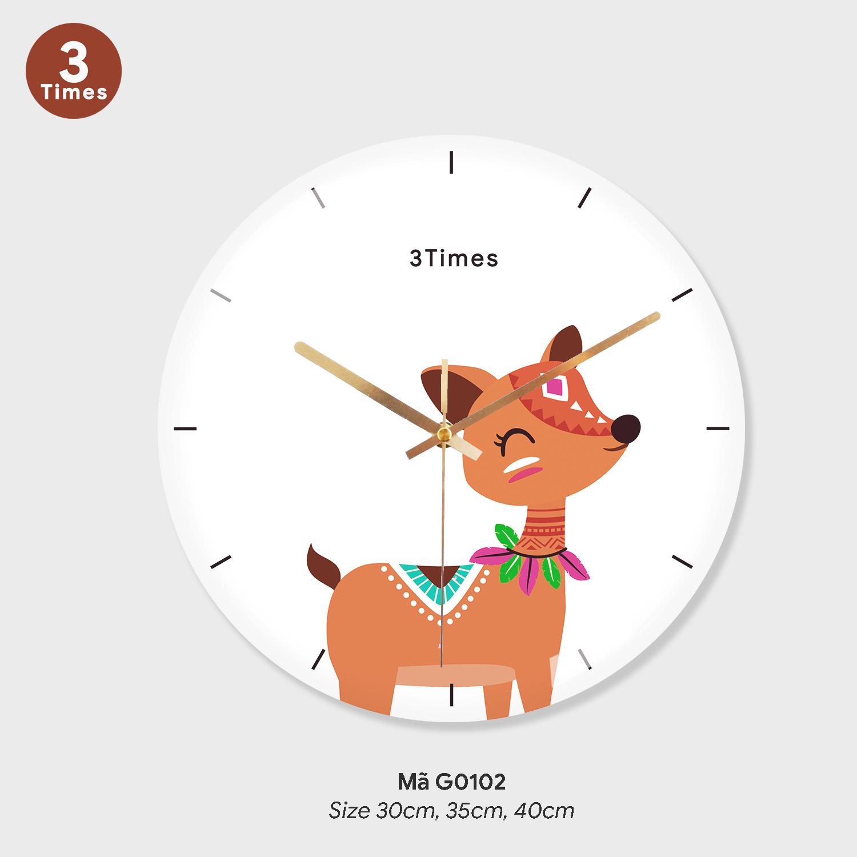 Đồng hồ treo tường tranh, đồng hồ trang trí treo tường mã G0102