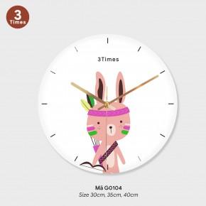 Tranh đồng hồ treo tường đẹp, đồng hồ trang trí mã G0104