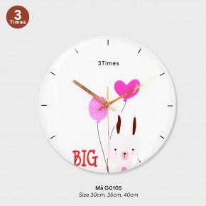 Đồng hồ phòng khách, đồng hồ tranh treo tường mã G0105