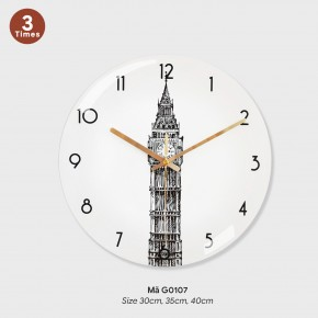 Đồng hồ treo phòng khách đẹp, do ho treo tuong mã G0107
