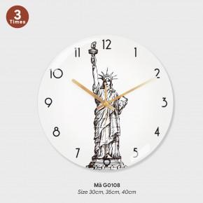 Đồng hồ kiểu treo tường, đồng hồ treo tường phòng khách đẹp mã G0108