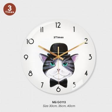 Đồng hồ treo phòng khách đẹp, tranh đồng hồ treo tường đẹp mã G0113