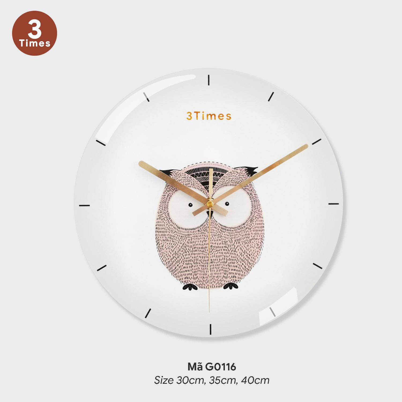 Đồng hồ treo tường cao cấp, đồng hồ trang trí phòng khách mã G0116