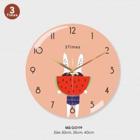 Đồng hồ treo tường trang trí phòng khách, đồng hồ treo tường mã G0119