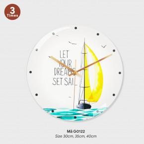 Những mẫu đồng hồ treo tường đẹp, tranh treo tường có đồng hồ mã G0122