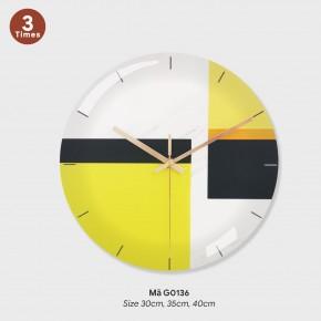 Tranh đồng hồ treo tường, đồng hồ treo tường sang trọng mã G0136