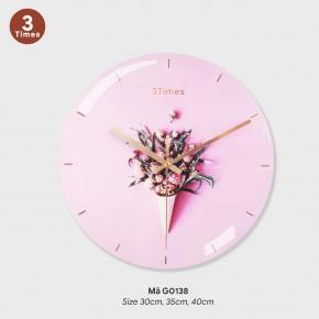Đồng hồ trang trí nội thất, đồng hồ treo tường giá rẻ mã G0138