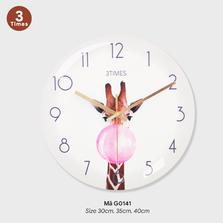 Đồng hồ trang trí phòng khách, tranh dong ho treo tuong mã G0141